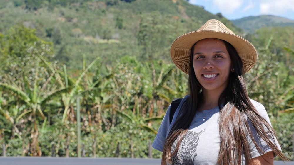 Marianela Montero, Nordic Approach Product Coordinator, family member of Don Eli Micromill in Tarrazu, Costa Rica