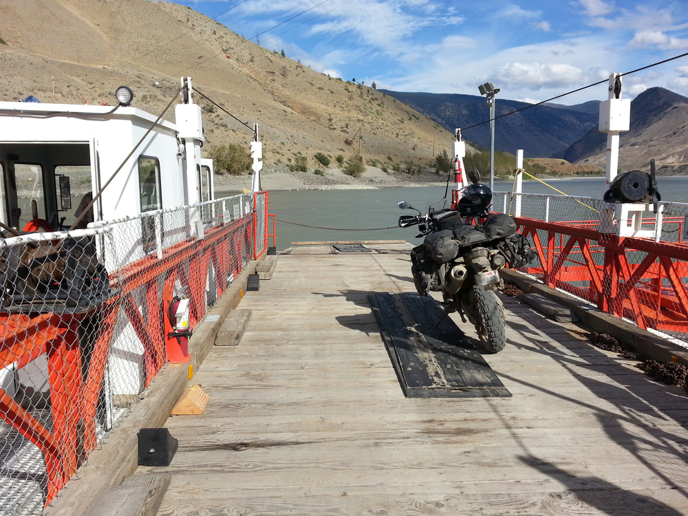 Bar River Cable Ferry Crossing in British Columbia, Canada