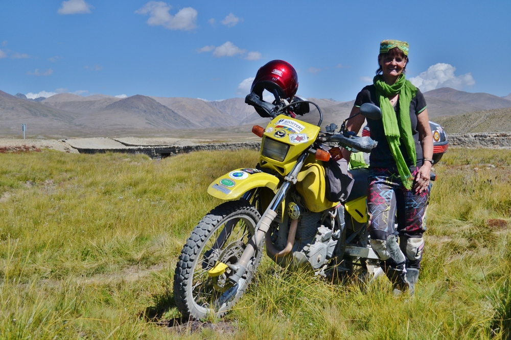 Liz in Pakistan at Deosai Plains