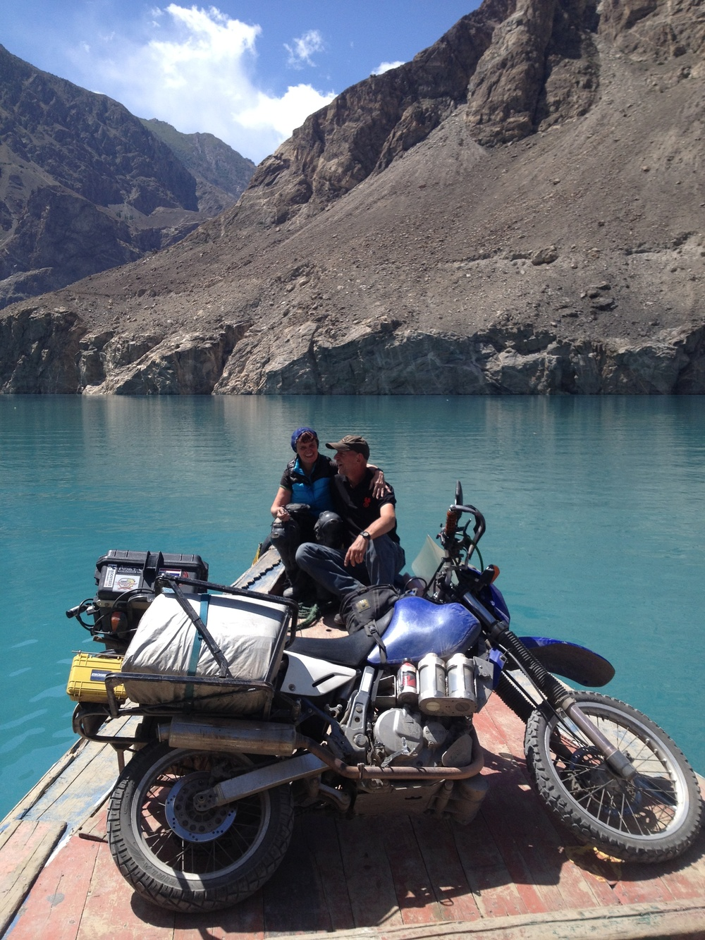 Crossing Attabad Lake, North Pakistan