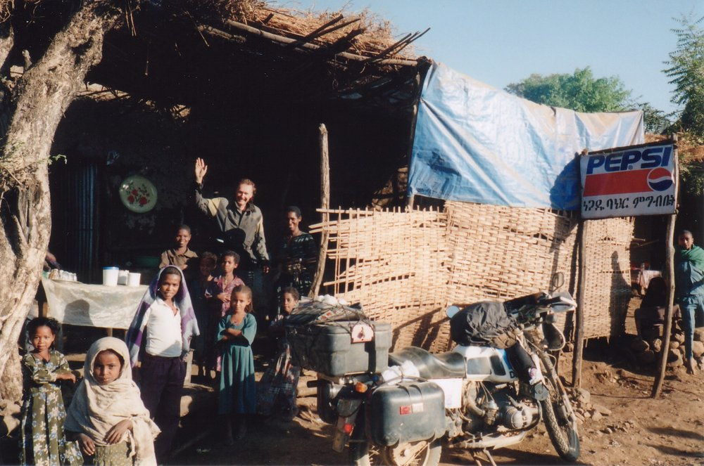 Ken in a small village in Ethiopia February 2000.jpg