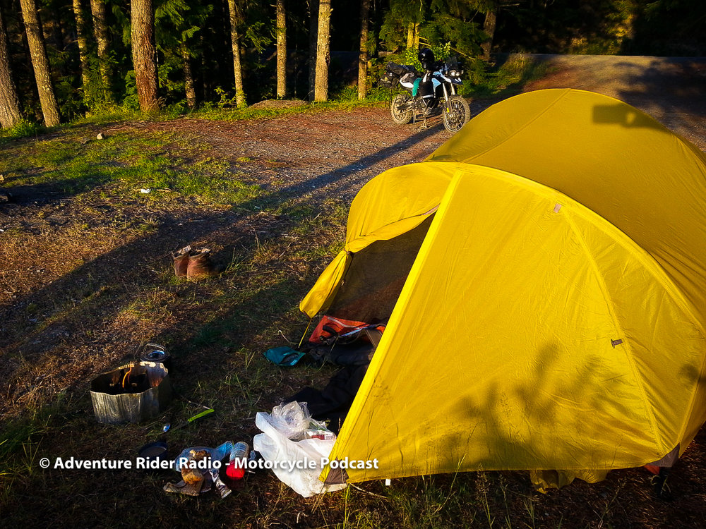 ADVENTURE RIDER RADIO - Yellow Tent Camping with Motorcycle.jpg