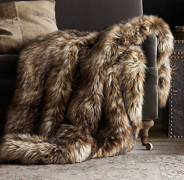 Exotic Faux Fur Throw