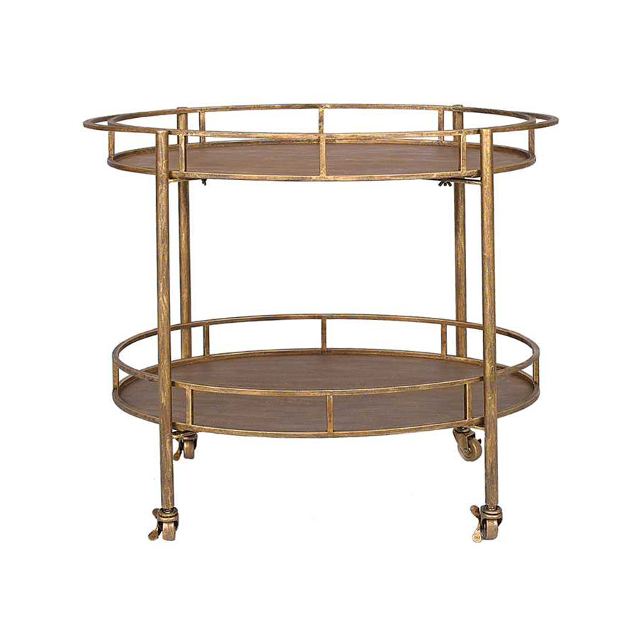 Gold and Metal Bar Cart