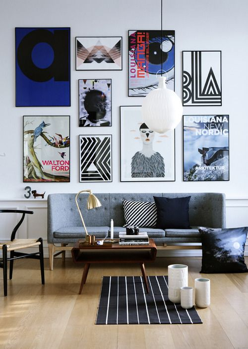 Bold and Colorful Gallery Wall