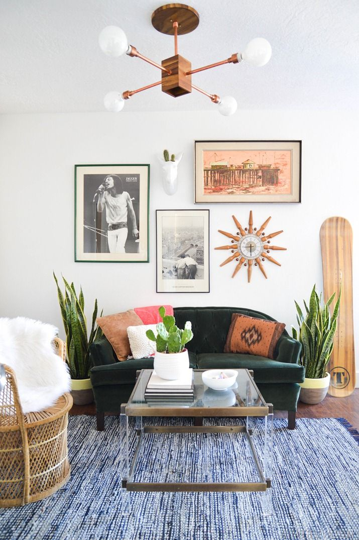 Earthy and Eclectic Gallery Wall
