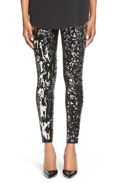 Sequin Front Leggings