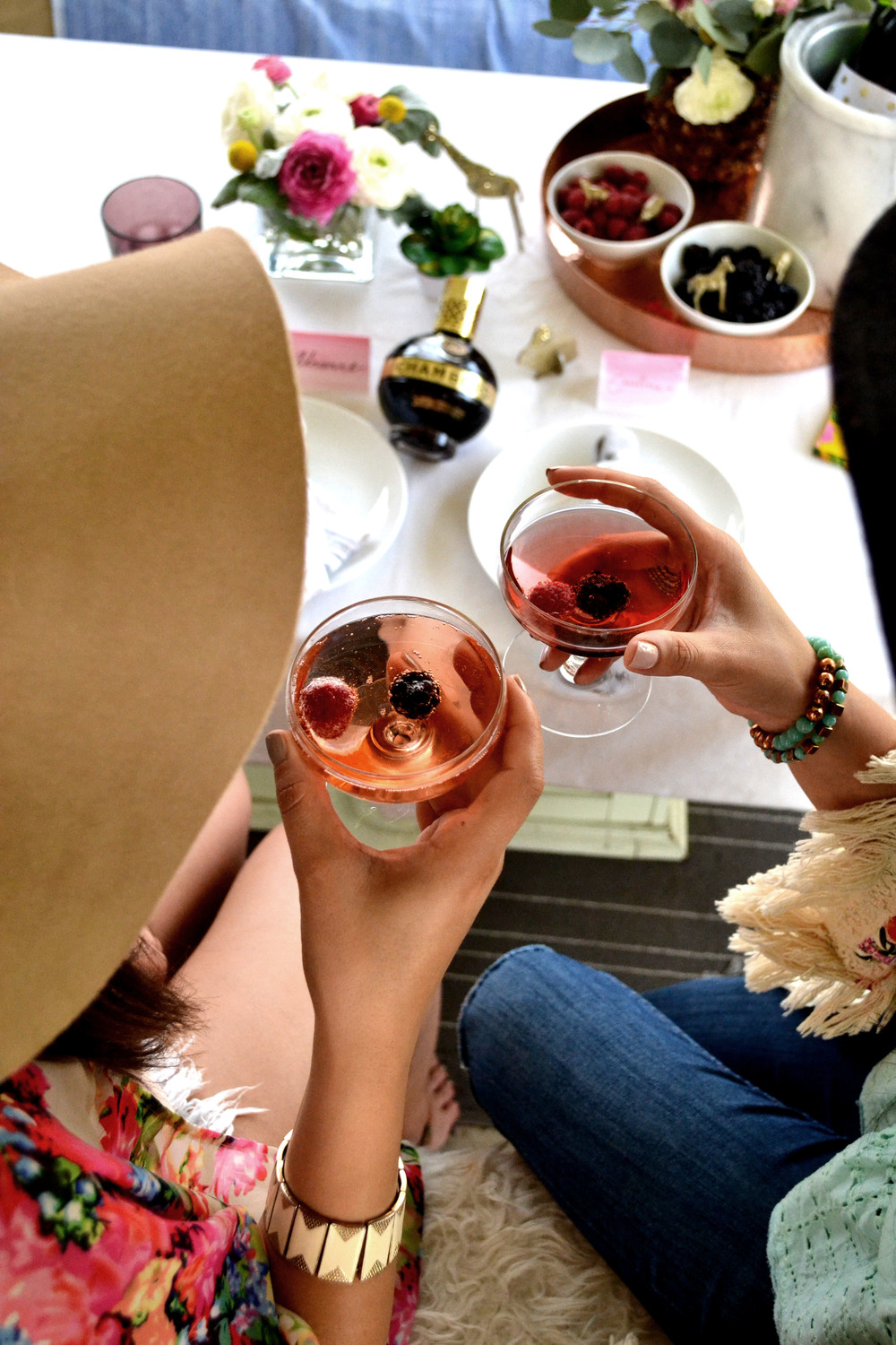 Cheers to springtime, friends and Chambord!