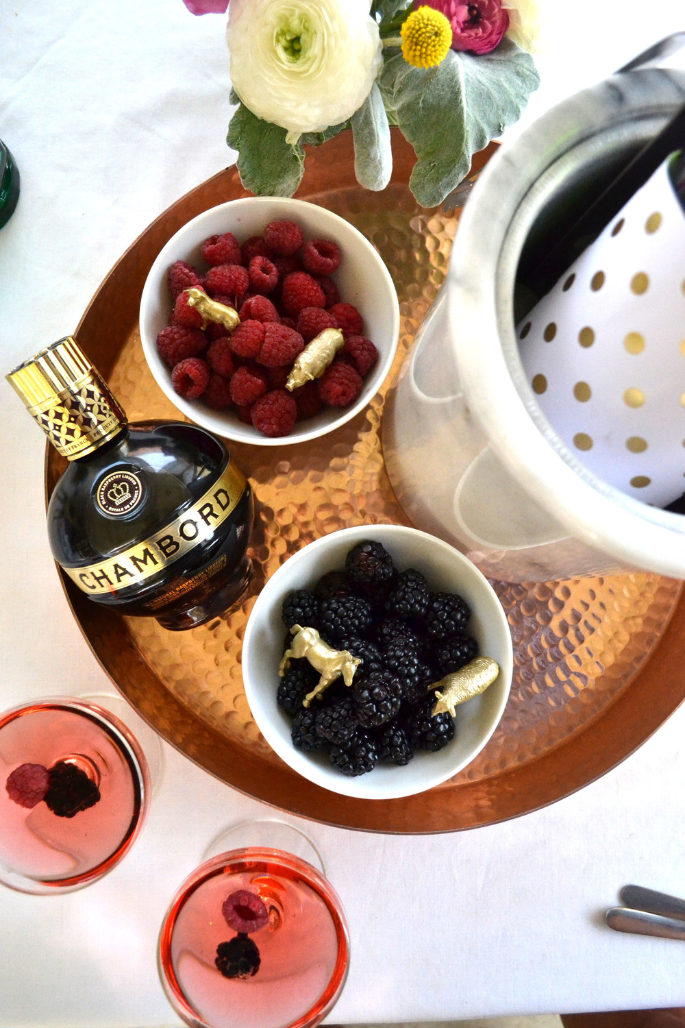 Berries are a must for any Chambord cocktail.