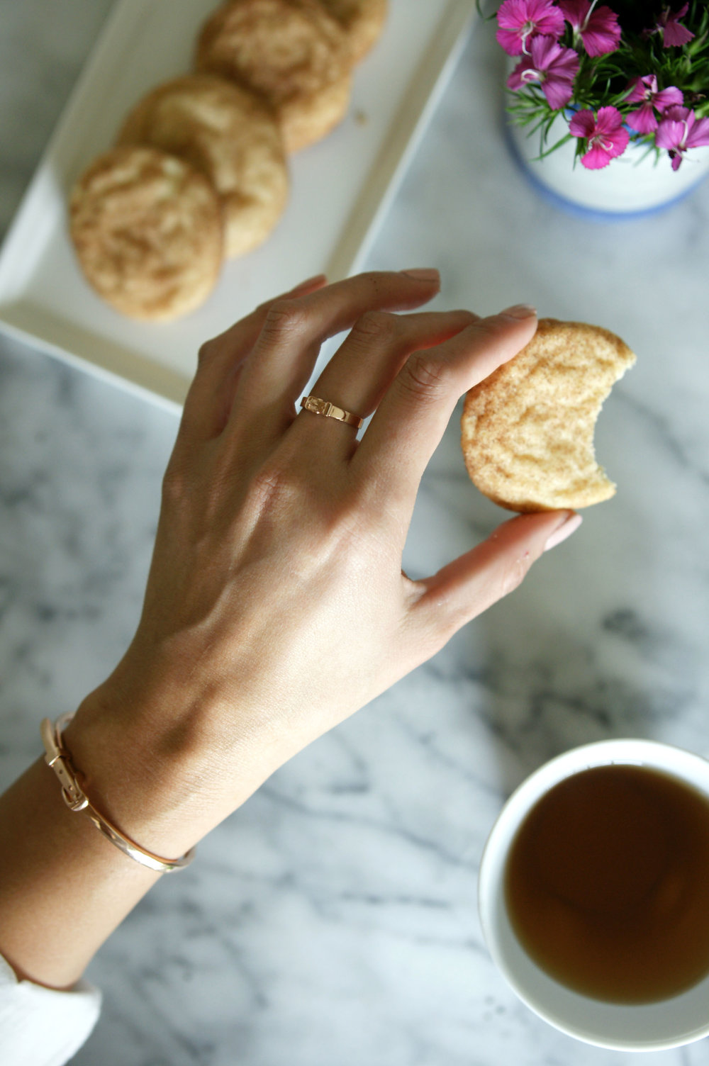 Thin Buckle Bracelet  and  Tiny Buckle Ring
