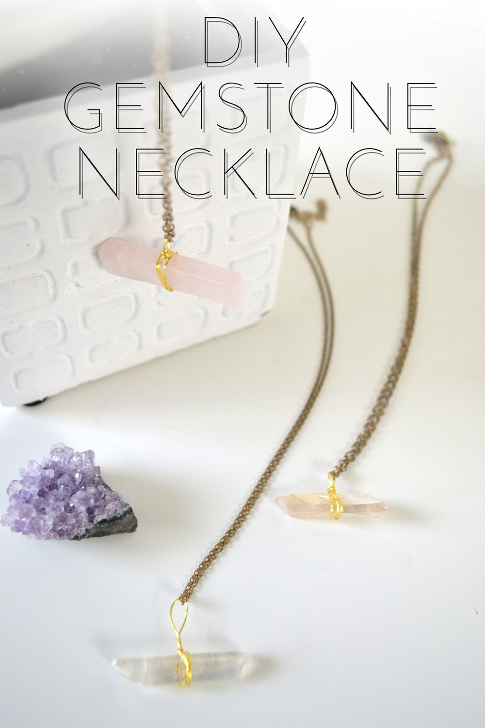 DIY Quartz Necklace