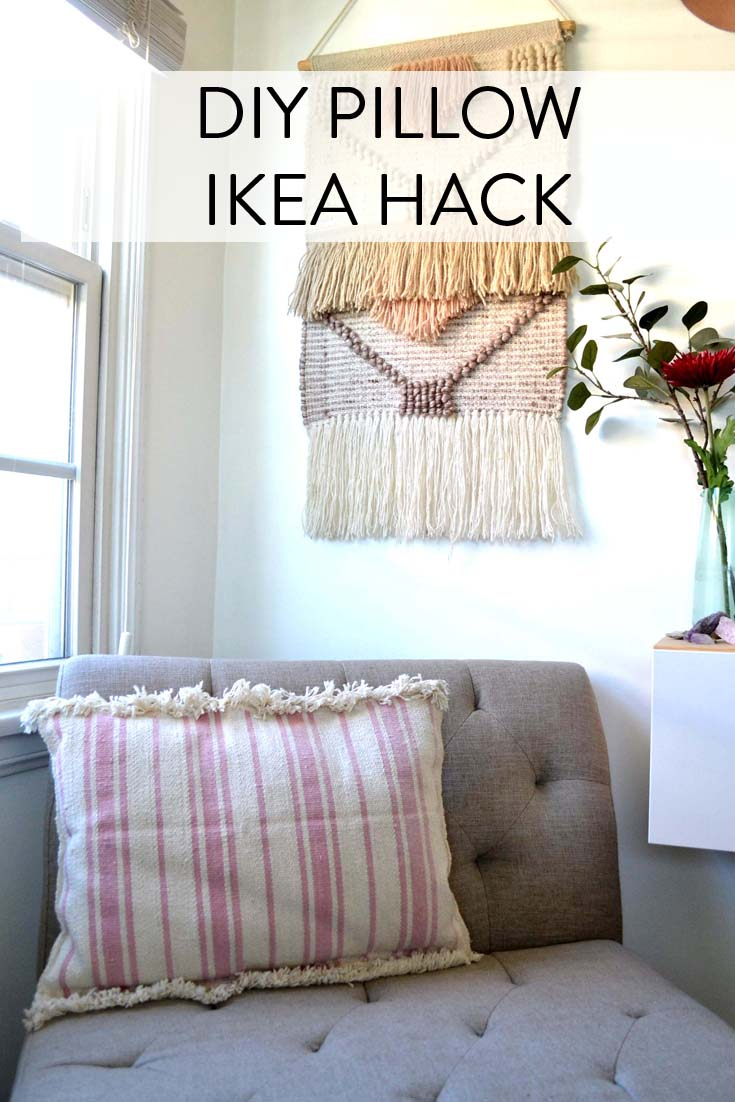 DIY Pillow IKEA Hack