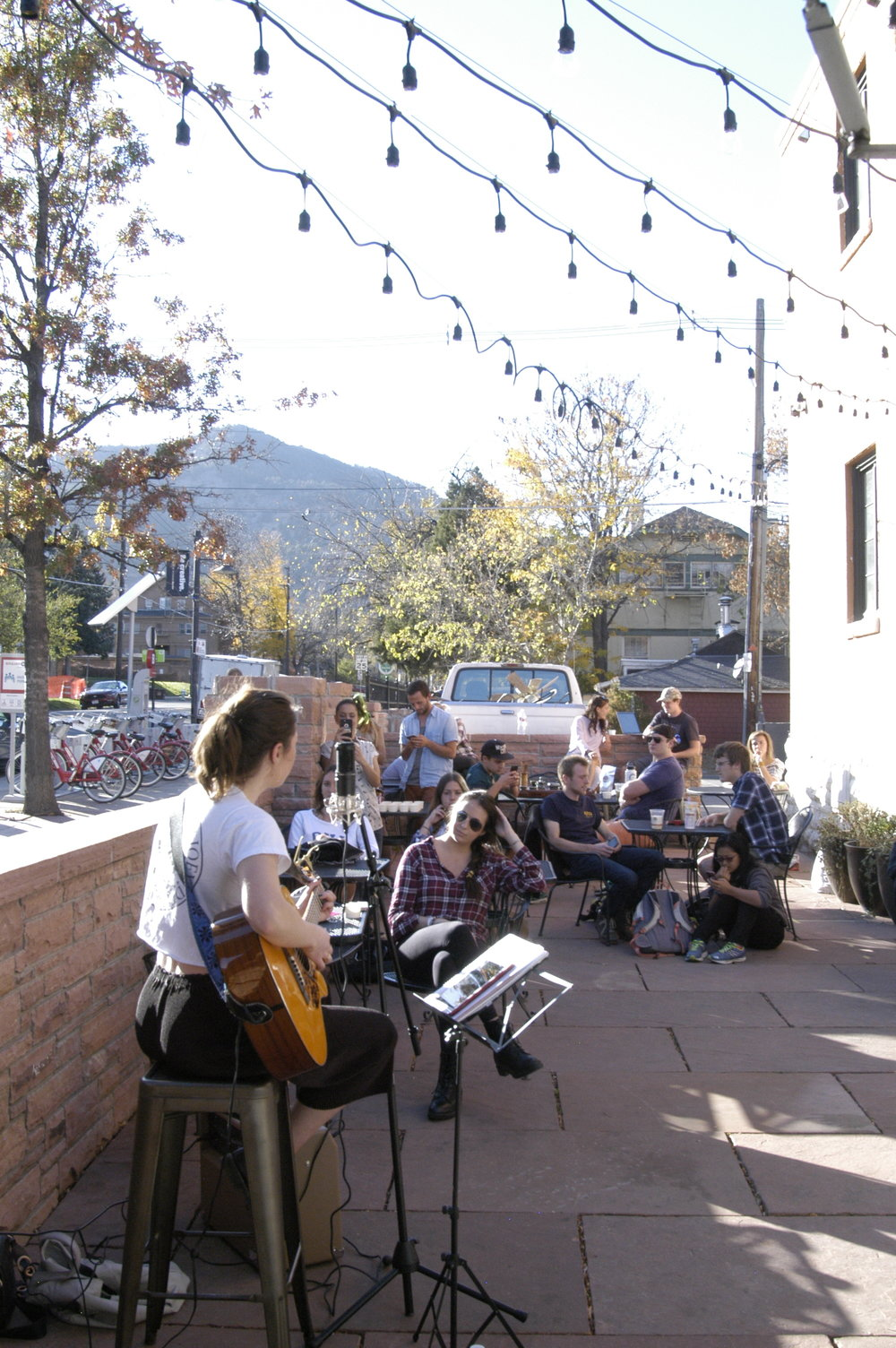 Anna Shoemaker plays The Point Cafe patio sessions.