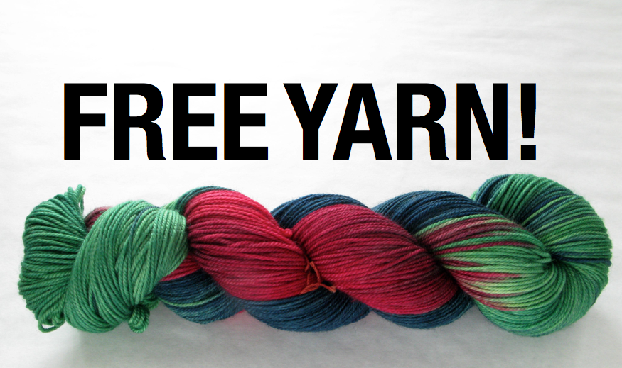 The skein above is random and not necessarily an actual prize!!
