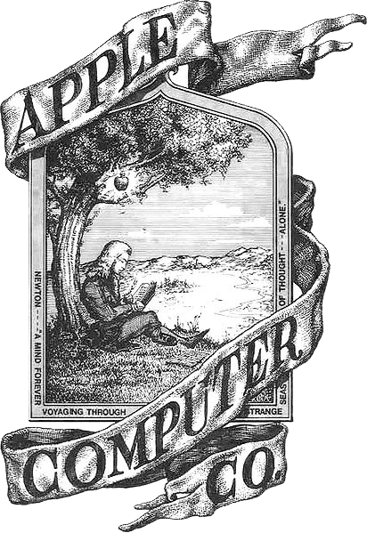 The first Apple logo, designed by co-founder Ronald Wayne.