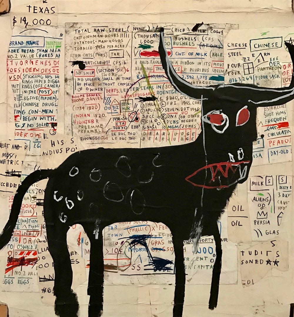 Beef Ribs Longhorn  by  Jean‐Michel Basquiat (cropped)