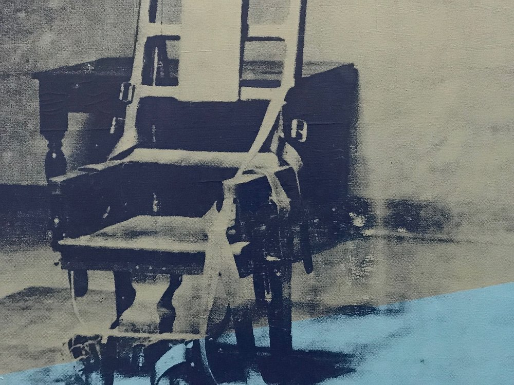 Big Electric Chair  by Andy Warhol  (cropped)
