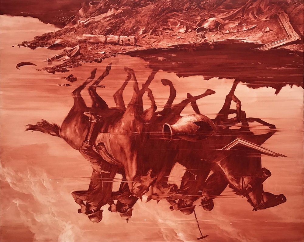Forward Retreat  by Mark Tansey