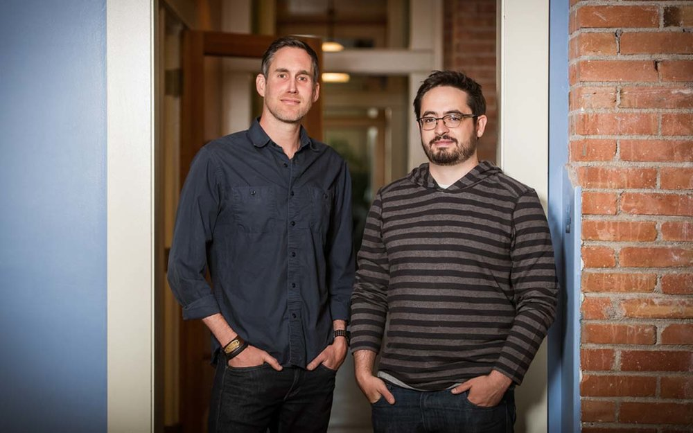 Ben (on the left) and Travis Kimmel, the co-founders of  GitPrime .