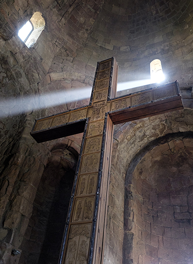 THE CROSS OF ST. NINO, EQUAL TO THE APOSTLES AND ENLIGHTENER OF GEORGIA. JVARI MONASTERY, GEORGIA