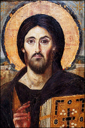 "Icon of christ pantocrator (""ruler of all""), monastery of st. catherine, egypt"