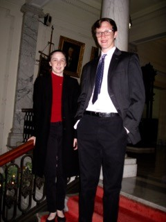 Bill's children Annie and Douglas.