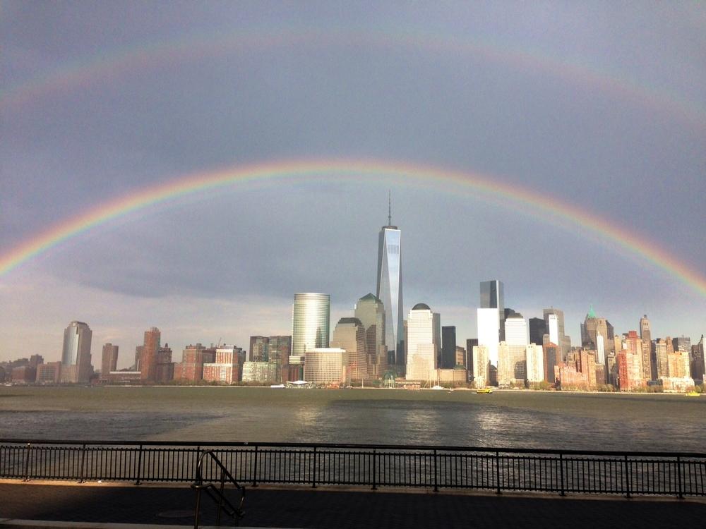 Double rainbow over Manhattan
