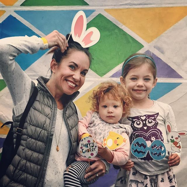 Me and my little chicks at the Easter Eggstravaganza hosted by @soundhouse_lb church today!! Face painting... bounce house... egg hunt... and friends. Life is good! Only one day until He is Risen. 🤗🥚🐰🙏 #heisrisen #tomorrow #thosecurlstho