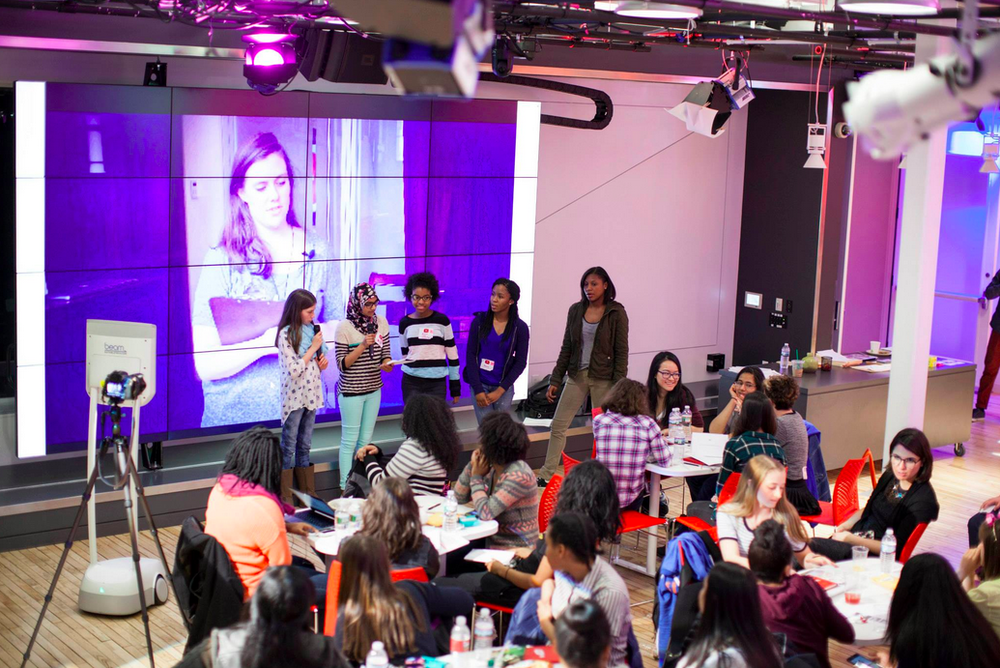 creative girls learn to code at Youtube
