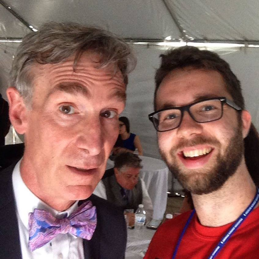 Bill Nye is an inspiration of mine and it was awesome to meet him!
