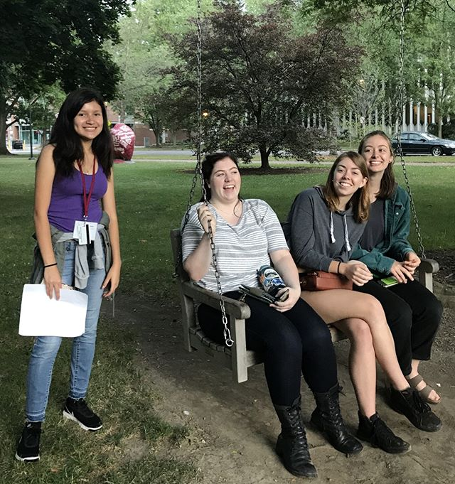 During a scavenger hunt, a Foresight Prep 2018 student got to know some locals at Oberlin's Tappan Square, a campus-adjacent hub for activism, community building, and relaxation.