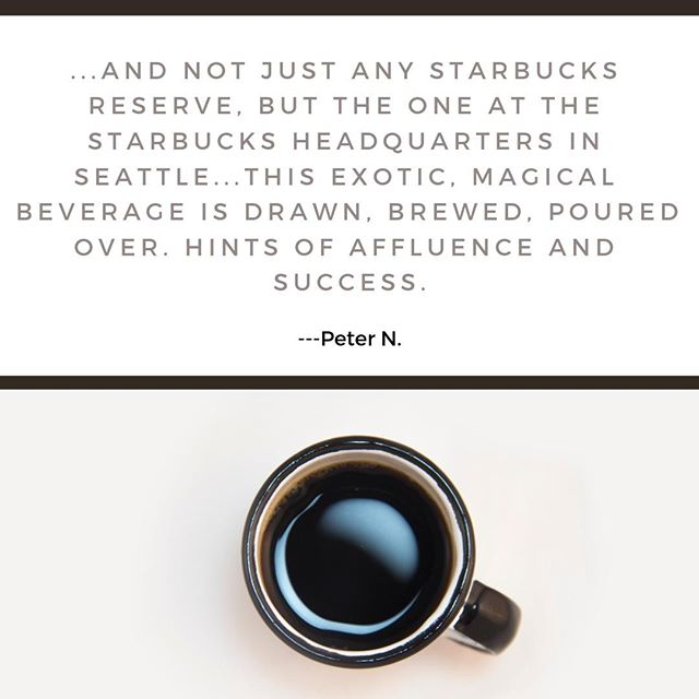 """Placated? --- Starbucks at Starbucks"" What are you thinking about when you hit the café every morning? http://ow.ly/a9zQ30mfM4O"
