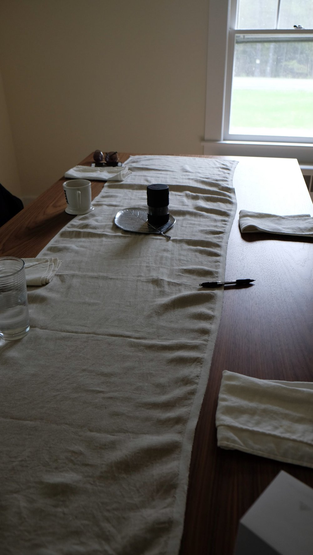 This is an empty table. Where once we had a full family or a host of friends, now we find ourselves without someone, wishing that they were again with us. Hoping for their health or saddened at their death. (Photographed in Narrowsburg, NY)