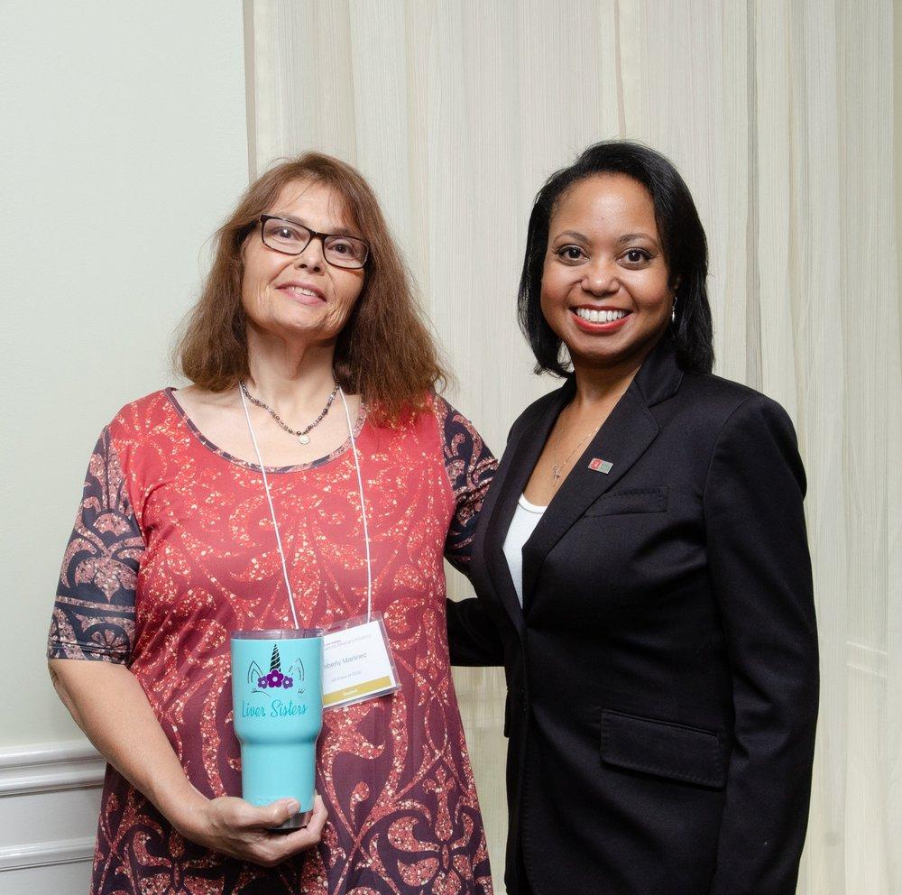 Kimberly Martinez with GLI President & CEO, Donna Cryer, JD at GLI's Advanced Advocacy Academy