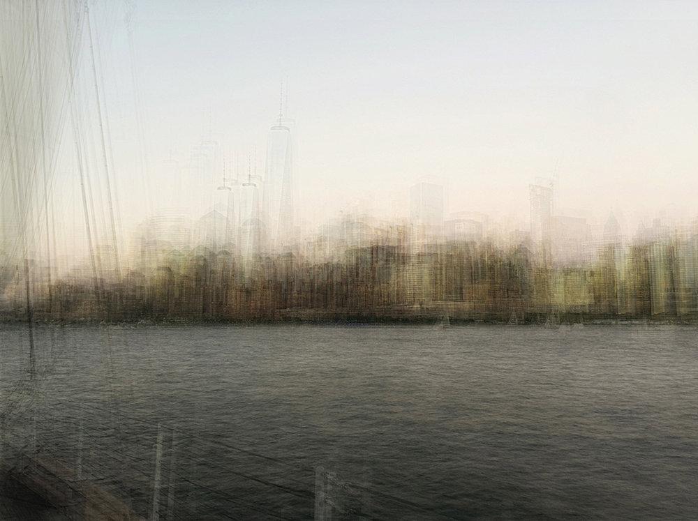 NYC skyline sailing the Hudson