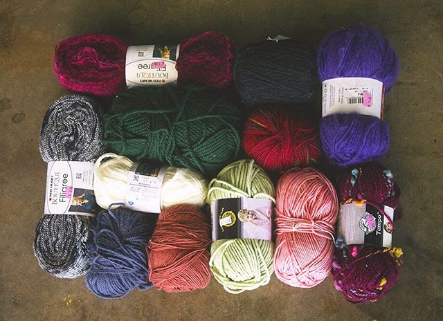 Calling all crafters! We received a donation of hundreds of skeins of yarn priced from 50 cents to $2. Come take a look!