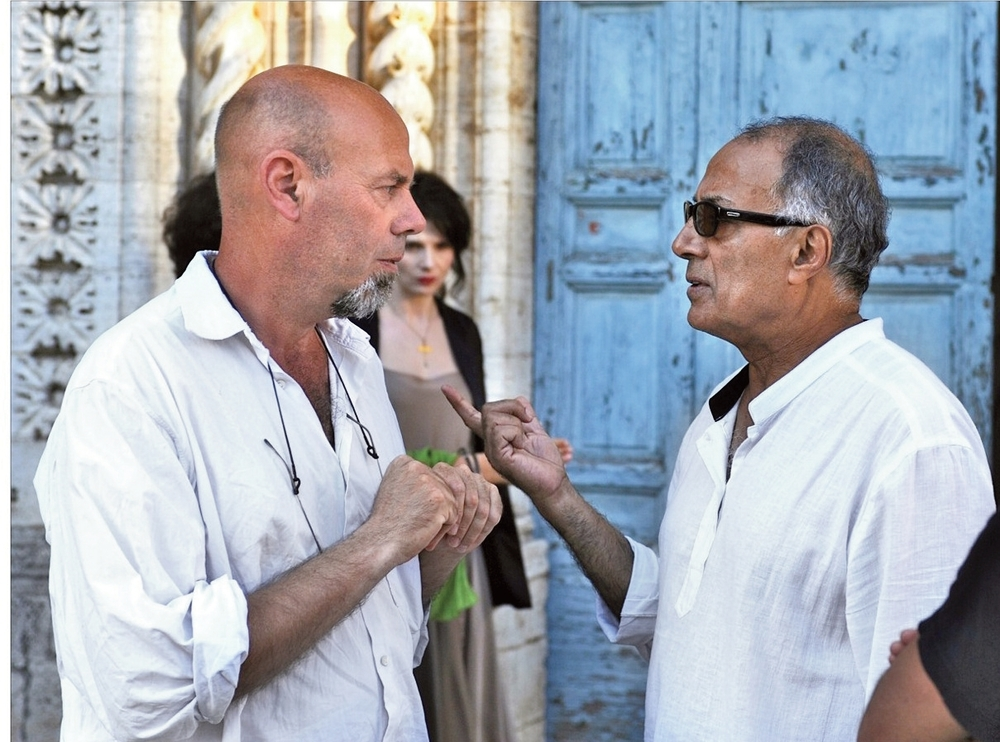 """Luca Bigazzi e Abbas Kiarostami sul set di """"Copia conforme"""" (2010)"""