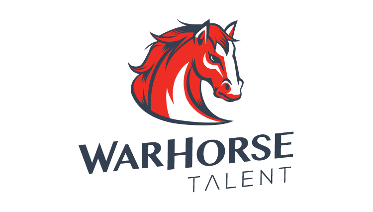 WarHorse Talent, logo design