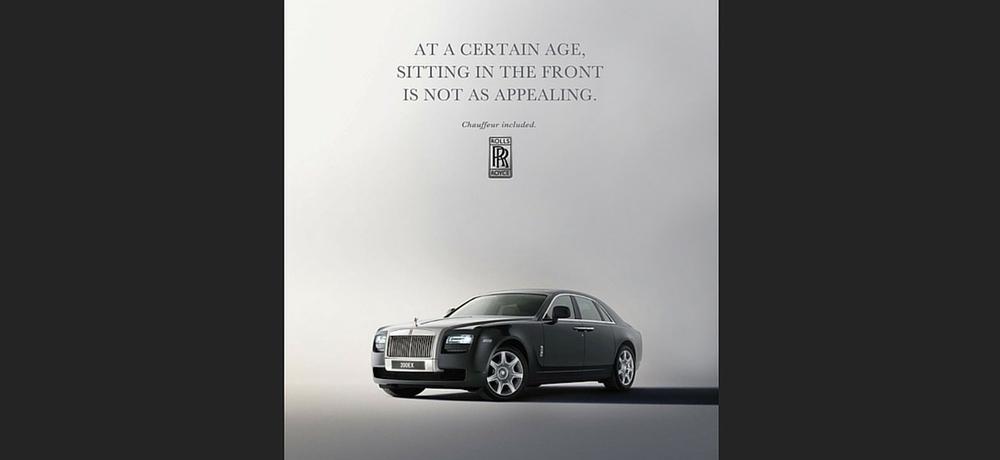 Rolls Royce speaks to exclusivity.