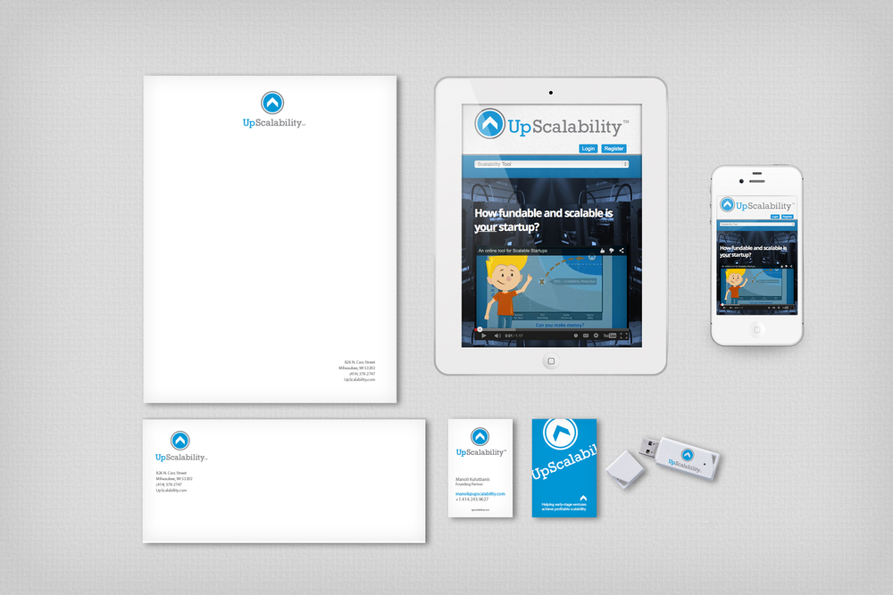 Branded materials starting with a mobile friendly responsive website and stationary.