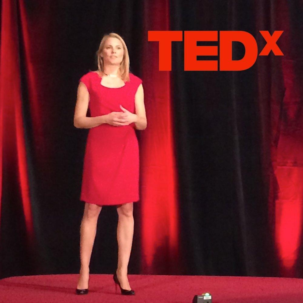 Vanessa Loder speaking at TEDx