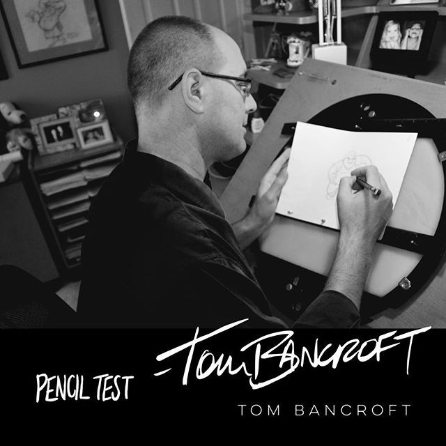 "It's Friday!!! And we have another amazing artist to post about! We are super excited that Tom Bancroft is not only producer of Pencil Test but he will also be in the movie! Tom has over 25 years of experience in the animation industry, much of which was for Walt Disney Feature animation where he was an animator on 4 animated shorts and 8 feature films of which ""Beauty and the Beast,"" ""The Lion King,"" ""Aladdin"", ""Pocahontas"", ""Mulan"", and ""Brother Bear"" were part of the list. He was also known for creating Mushu in Mulan! #tombancroft #disney #disneyanimation #2danimation #traditionalanimation #handdrawnanimation #handdrawn #sketching #characterdesign #mulan #mushu #lionking #simba #thelionking #aladdin #pocahontas #brotherbear #beautyandthebeast #animator"
