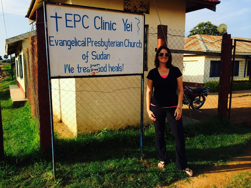 Me in front of the clinic