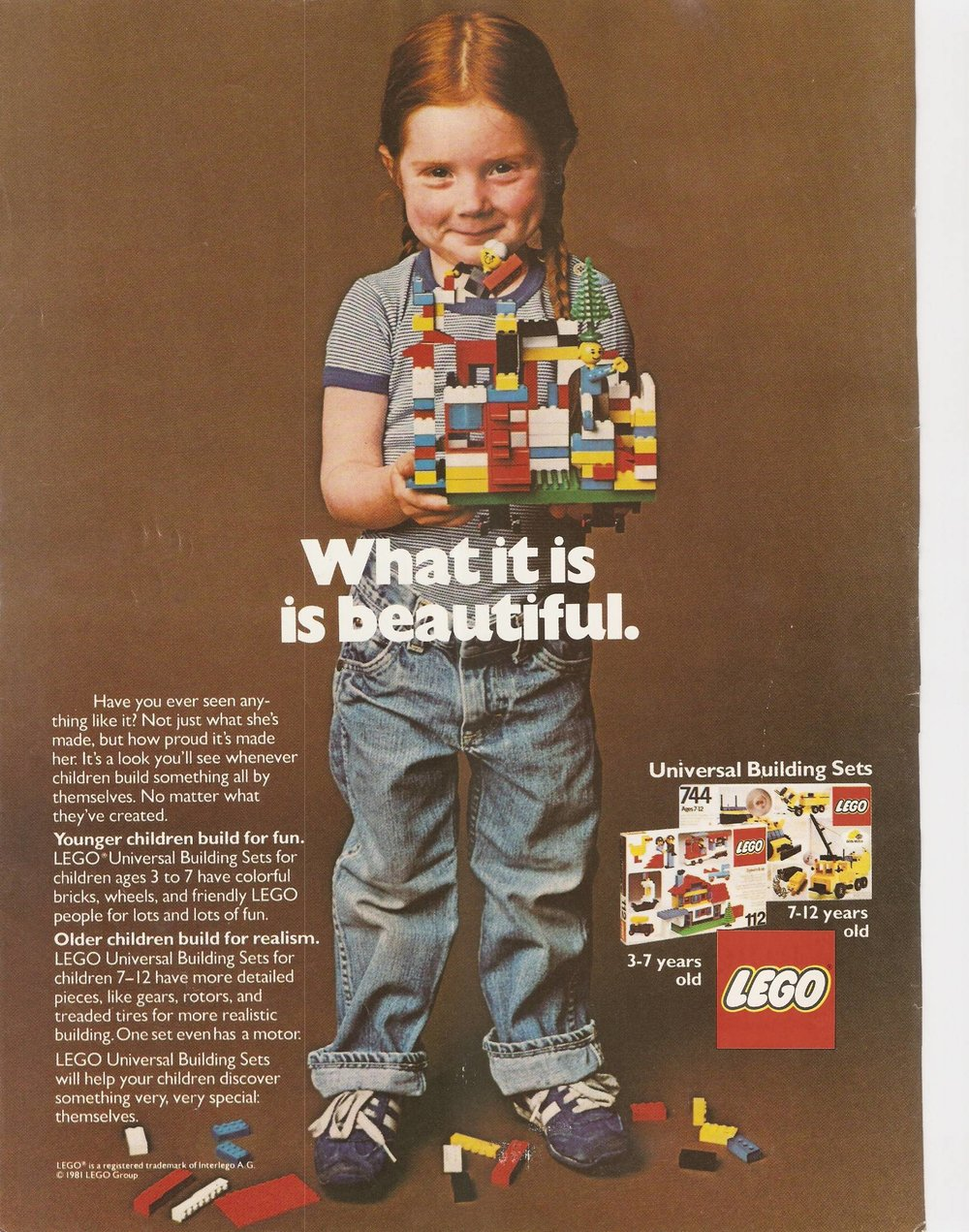 LEGO advertisement from 1981