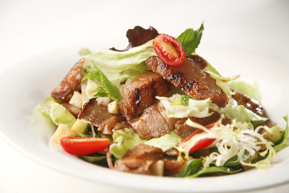Grilled Pork Chop Salad