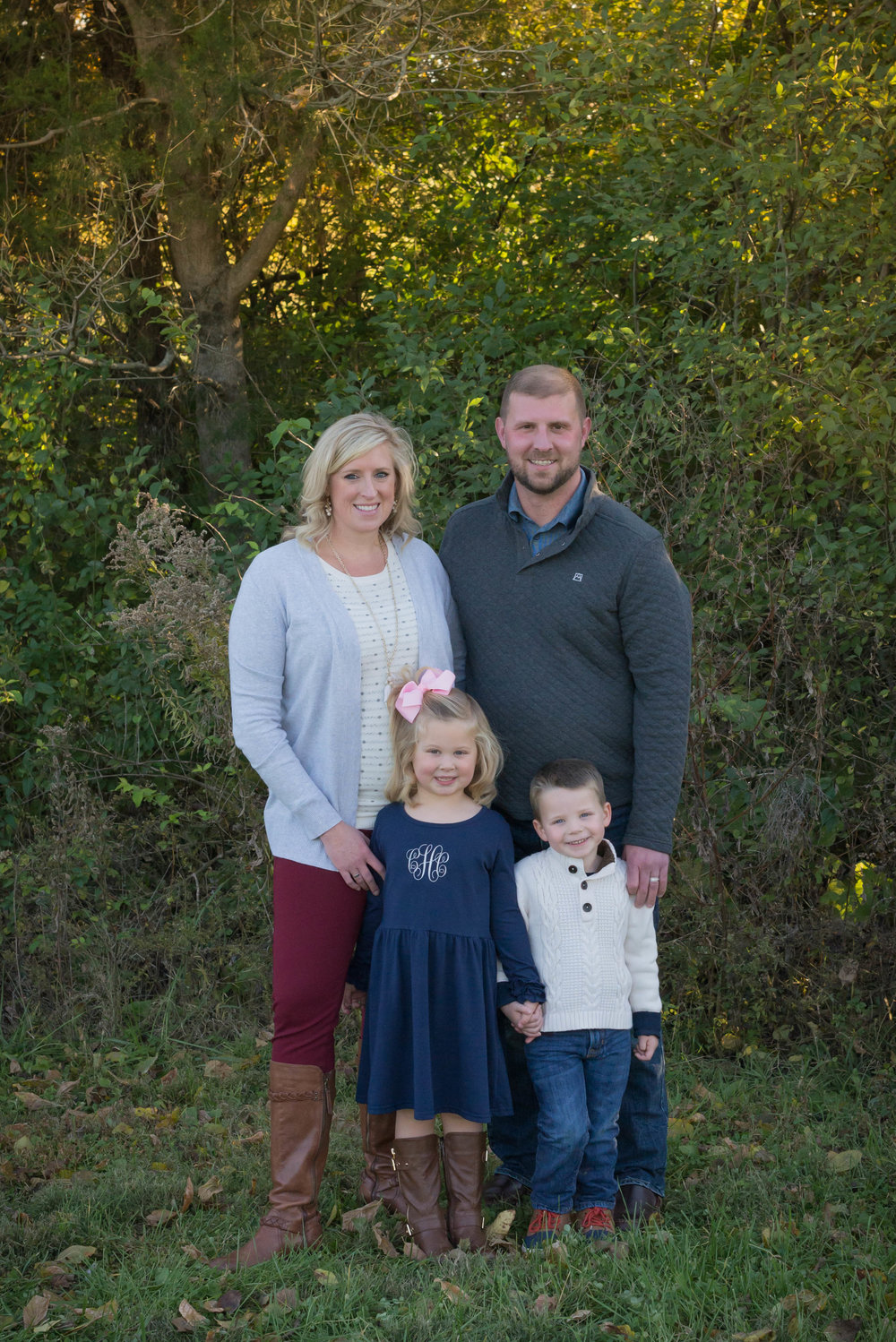 The Hall Family at their home in Fisherville, Kentucky. Fall 2018.
