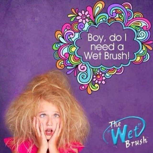 We now carry the one & only #WetBrush ! We have many different colors to choose from & they're only $12!