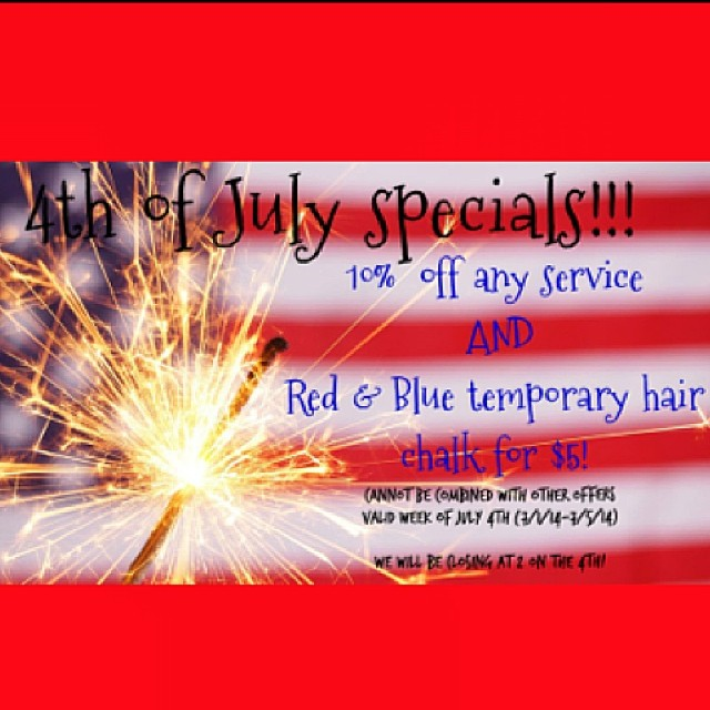 #july4th salon specials!