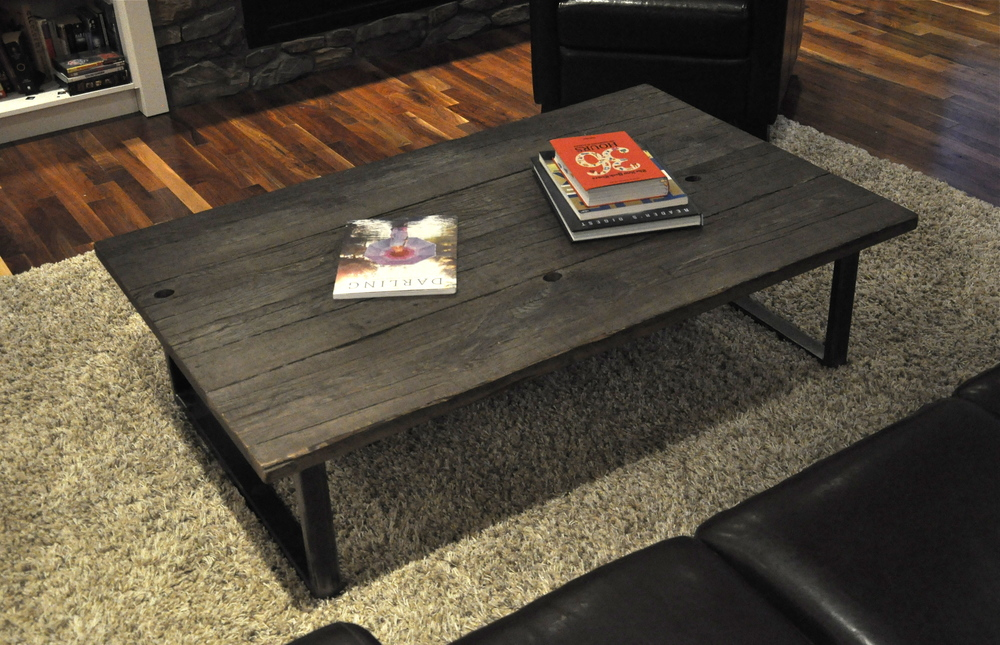- Wood-Reclaimed Timber Coffee Table - Iron