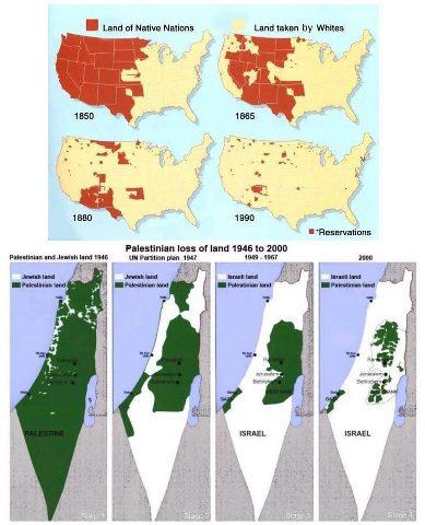 Similarities between Native Americans and Palestinians.